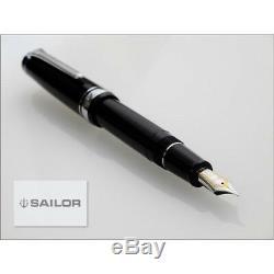 Stylo Plume Sailor 1911 Professional Gear Argenté Noir Pointe Fine 11-2037-220