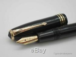 Stylo Plume Vintage Conway Stewart No. 58 Noir, Or 14k, Large Duro Nib Nr Mint