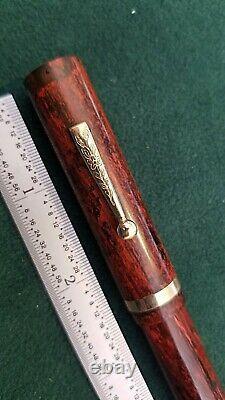 The Lincoln Fountain Pen Avec Pocket Clip 14k Gold Nib National Pen Co Chicago