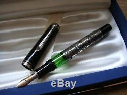Ultra Rarepelikan Toledo M710 Fountain Pen Noir Et Argent