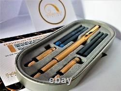 Véritable 24ct Gold Plated Parker Vector Calligraphy Set Ct Fountain Pen-fine Nib