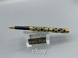 Vintage Aikin Lambert Ribbon Filigree Overlay Fountain Pen 14k Waterman Plume