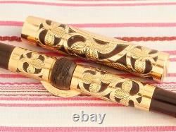Vintage Conklin Crescent Gold Heath Filigree Gravé Floral Overlay Fountain Pen