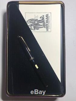 Vintage Mont Blanc Classique 13100 Noir 14k 585 Or B Nib Fountain Pen
