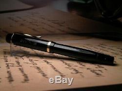Vintage Montblanc 234 1 / 2g Fountain Pen-black-14k Flex 1950 Nib-allemagne