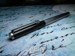 Vintage Montblanc Noblesse Fountain Pen-matt Black & Matt Steel-1970 Allemagne
