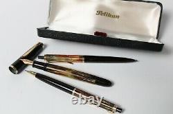 Vintage Pelikan 400 - 355 - 450 Fontaine 14k 585, Stylo À Billes Et Boîte Mécanique