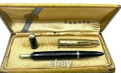 Vintage Rare Année Parker 51 Stylo 14k Solid Gold Prototype Cap