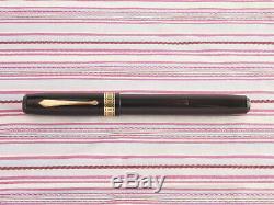 Vintage Waterman Idéal Patricien Senior Or Emblème Noir Art-déco Fontaine Pen