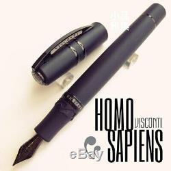 Visconti Spc Édition Homo Sapiens Dark Age De Fer Noir Piston Fountain Pen