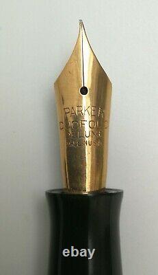 Vtg 20s Parker Duofold Deluxe Junior Fountain Pen 14k Or Nib Marbled 11.5cm