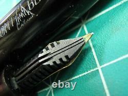 Vtg Montblanc 244 G Fountain Pen 14k Gold Nib Semi Flex Vintage Années 1950 Gt