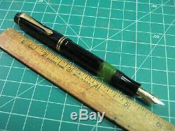 Vtg Montblanc 334 1/2 Stylo Plume Or 14k Plume Fine Pt 1950 Vintage Flex Gt