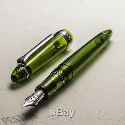 Wancher X Sailor Mère Vert F Fountain Pen 14k Limited Edition Made In Japan