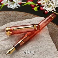 Wancher X Sailor Professional Gear Fountain Pen 14k Mf Café Bordeaux