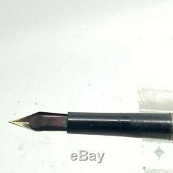 Waterman 412 1/2 Secrétaire Argent Sterling Filigrane Superposition Fountain Pen Avec Clip