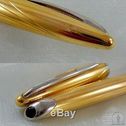 Waterman Carène Méridiens Plaqué Or Pt Fountain Pen 18k-750 Medium Nib