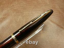 Waterman Carenne Amber Shimmer Pen De La Fontaine 18k Fine Nib Newithbox/garantie