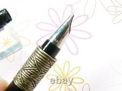 Waterman Serenite Fountain Pen Broad 18k Plume D'or Nib Complet Avec De L'encre Papiers Boîte