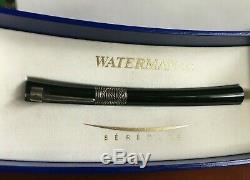 Waterman Serenite Stylo Plume Noire En Or 18 Kt Moyen Pt, Utilisé, Avec La Boîte